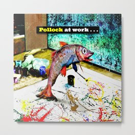 Pollock at Work Metal Print
