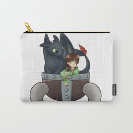 Hiccup and Toothless in a Helmet Carry-All Pouch