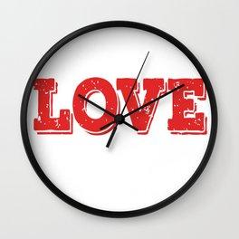 live-love-teach copy Wall Clock