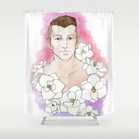 agents of shield Shower Curtains featuring Agents - Krem by Tobie1Kenobi