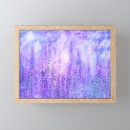 Lavender fields Framed Mini Art Print