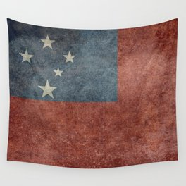National flag of Samoa - Vintage version Wall Tapestry