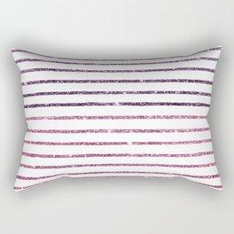 Modern geometrical purple pink glitter Rectangular Pillow