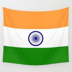 National flag of India - Authentic version to scale and color Wall Tapestry