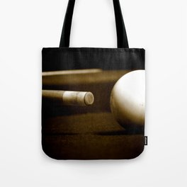 Pool Table-Sepia Tote Bag