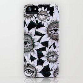 Sunflower Vision iPhone Case