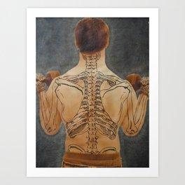 Weight of Anatomy on Society Art Print