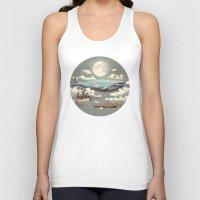 sky Tank Tops featuring Ocean Meets Sky (original) by Terry Fan
