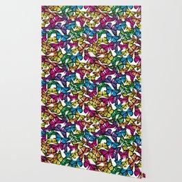 Vibrant Butterflies Wallpaper