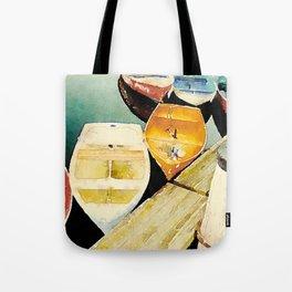 Rockport, Massachusetts Dories Tote Bag