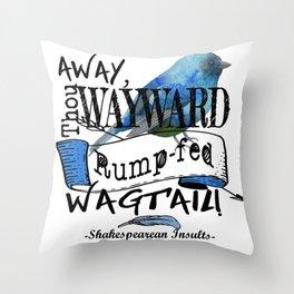 Rump-fed Wagtail Throw Pillow
