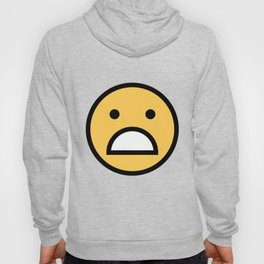 Smiley Face      Cute Big Mouth Unhappy Smiling Face Hoody