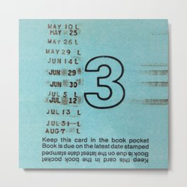 Ilium Public Library Card No. 3 Metal Print