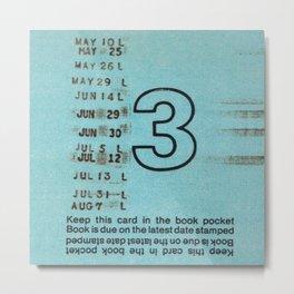 Ilium Public Library Card No. 3 Metal Print