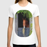 jewish T-shirts featuring Home is where the Horse is by Brown Eyed Lady