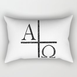 Alpha Omegs Icon Image Rectangular Pillow