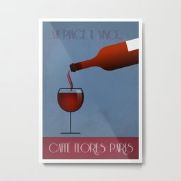 WINE BOTTLE poster Metal Print