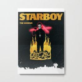 The weeknd Starboy Metal Print