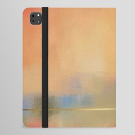Abstract Landscape With Golden Lines Painting iPad Folio Case