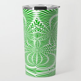 green arrows 2 : warped arrows Travel Mug