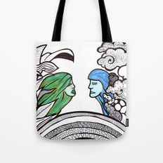 From two different worlds Tote Bag