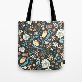 Tulip flowerbed, blue Tote Bag