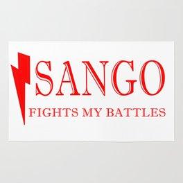 Sango Fights My Battles Rug