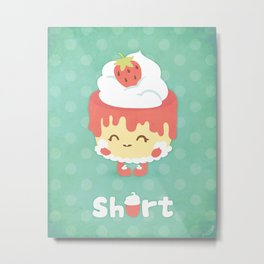 Strawberry Short Cake Metal Print