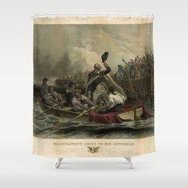 Washington's Adieu to his Generals Shower Curtain