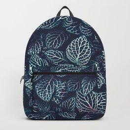 Purple In Green Backpack