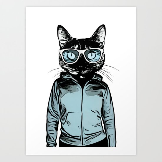 cool cat art print by nicklasgustafsson society6