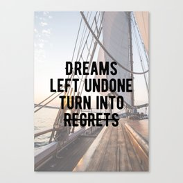 Motivational - Dreams Canvas Print