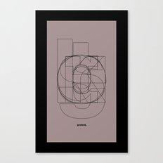 Die Neue Haas Grotesk (D) Canvas Print