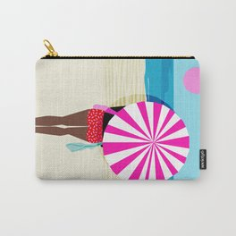 Fer Sure - throwback beach retro socal surfing sport 1980s neon classic 80s style memphis pop art Carry-All Pouch