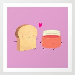 Bread loves jam Art Print