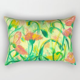 Sun drenched Poppies Rectangular Pillow