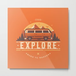 Explore Bully Metal Print