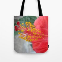 hibiscus Tote Bags featuring Hibiscus by BACK to THE ROOTS