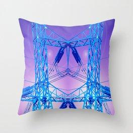 Ringing Blues Throw Pillow