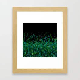 Binary Cloud Framed Art Print