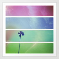 palm tree Art Prints featuring Palm Tree by Whitney Retter