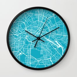 Berlin Map Germany | Blue II | More Colors, Review My Collections Wall Clock