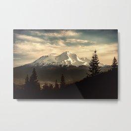 Mount Shasta Waking Up Metal Print