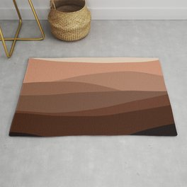Mountain, Landscape, Green, Ombre Paintings Rug