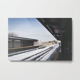 J Train Metal Print