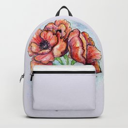 Poppy Flowers Sketch Backpack