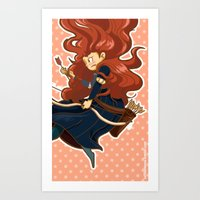 merida Art Prints featuring Merida by Schewy