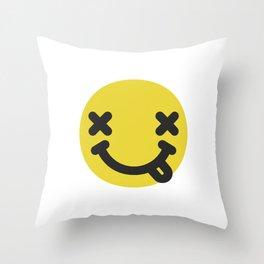 Nirvana emoticon  Throw Pillow