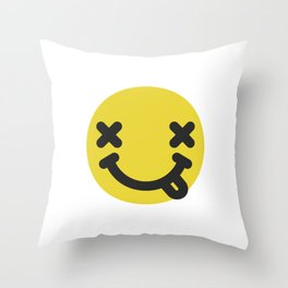 Nirvana emoticon  Throw Pillow