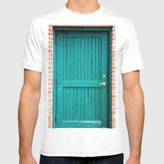 Green Door White MEDIUM Mens Fitted Tee